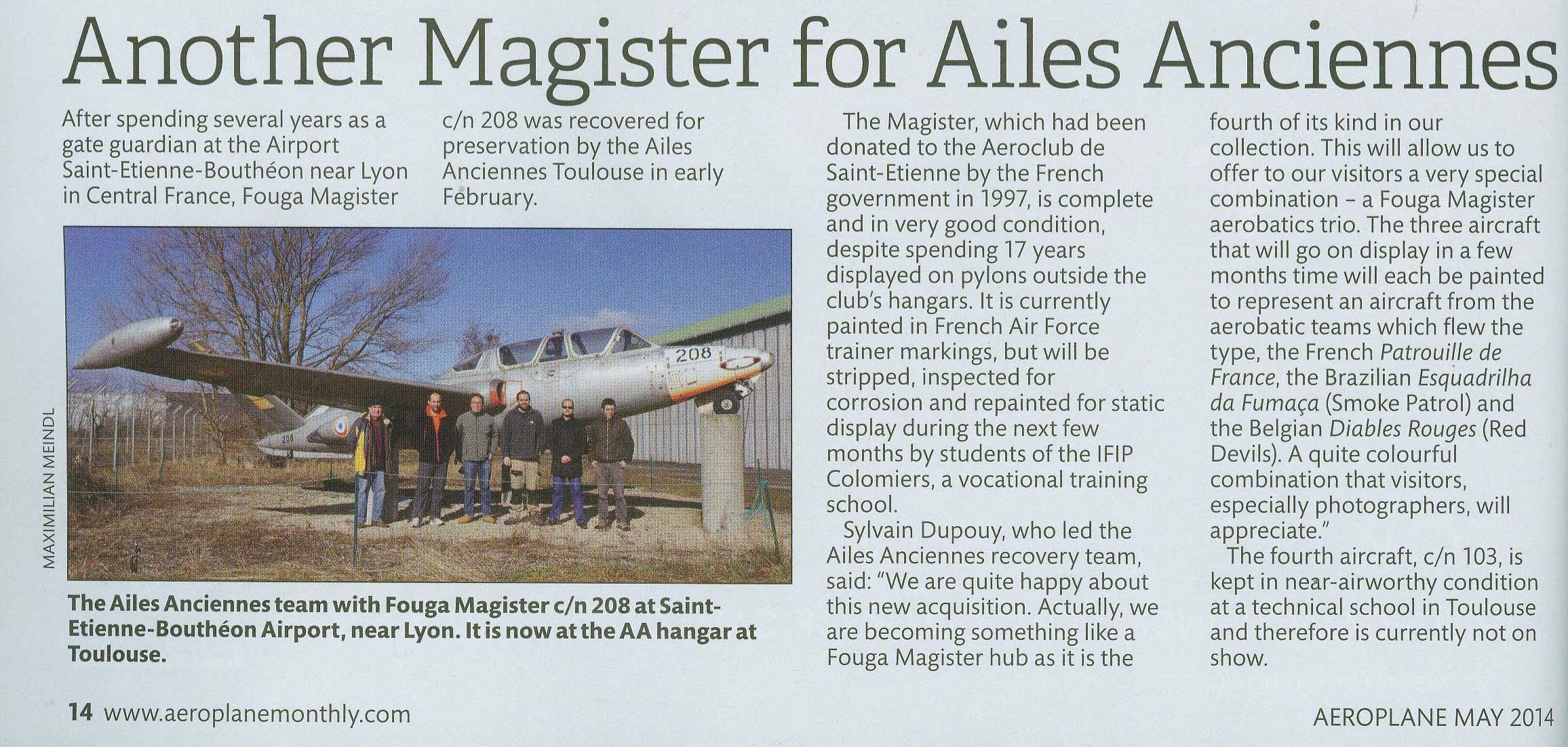 Article paru dans Aeroplane Monthly