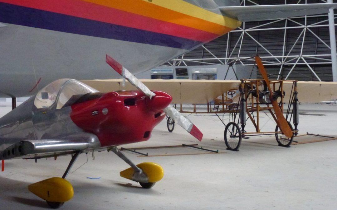 Entrée du Blériot et du Gringo dans Aeroscopia