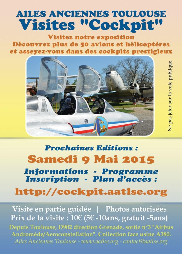 Affiche de la visite cockpit du 9 mai 2015