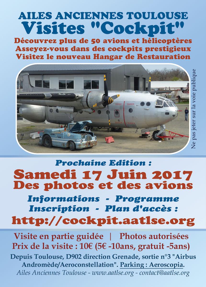 Affiche de la visite cockpit de juin 2017