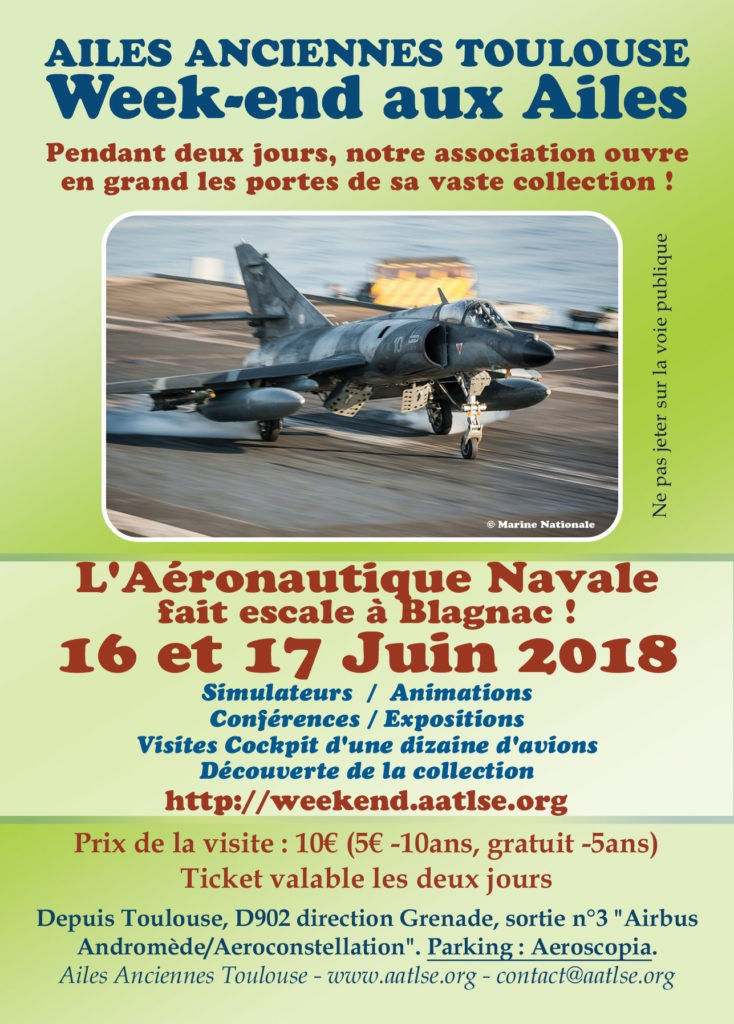 Affiche du Week-end aux Ailes 2018