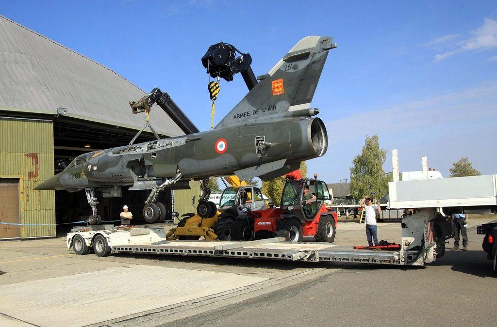 Récupération du Mirage F1 CT n°261 à Châteaudun