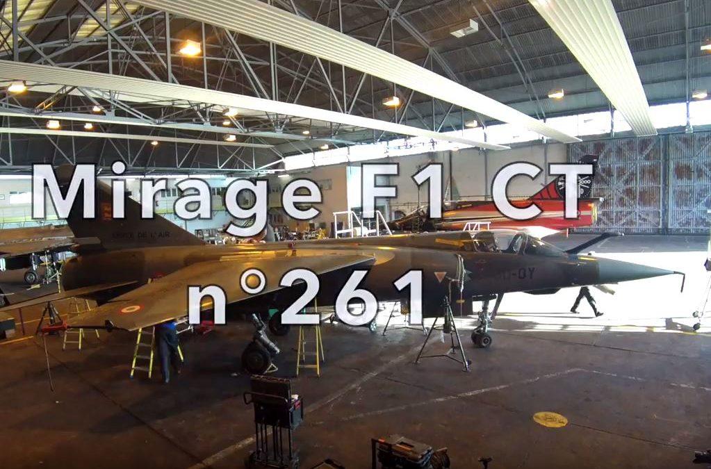 Vidéo – Démontage du Mirage F1CT à Châteaudun