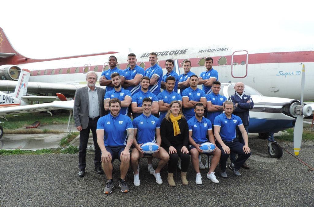 Les pensionnaires du centre de formation du Toulouse Olympique XIII viennent faire leur photos officielles chez nous !