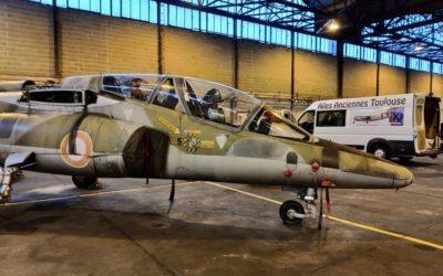 L'Alpha Jet E5 est arrivé à Toulouse !